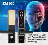 ZM100 SMART DOOR LOCK WITH FACE, FINGERPRINT AND RFID CARD