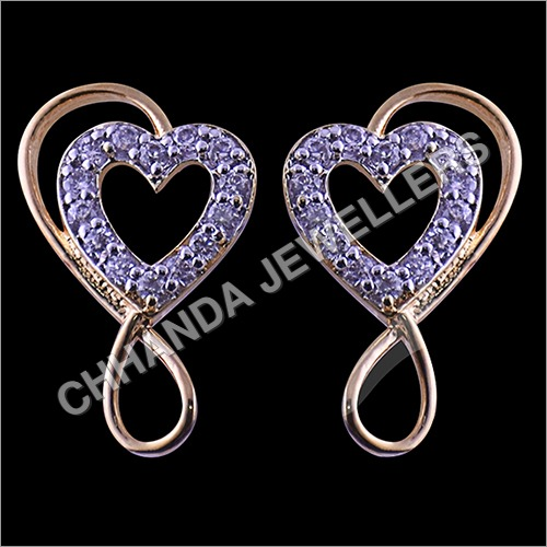Diamond Heart Shape Earrings
