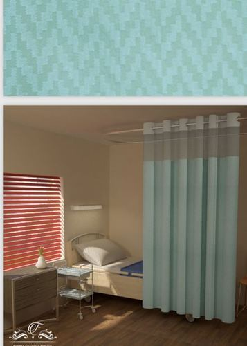 Plain Hospital Curtain with square net