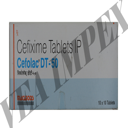 Cefolac DT-50 mg Tablets