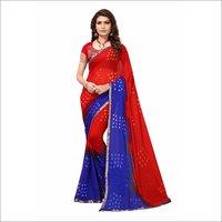 fancy printed Chiffon Silk Saree