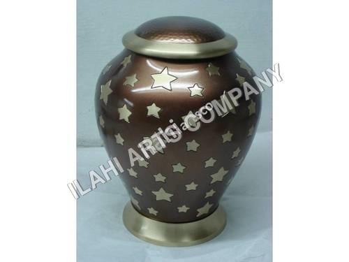 Brass Brown Radiance Urn