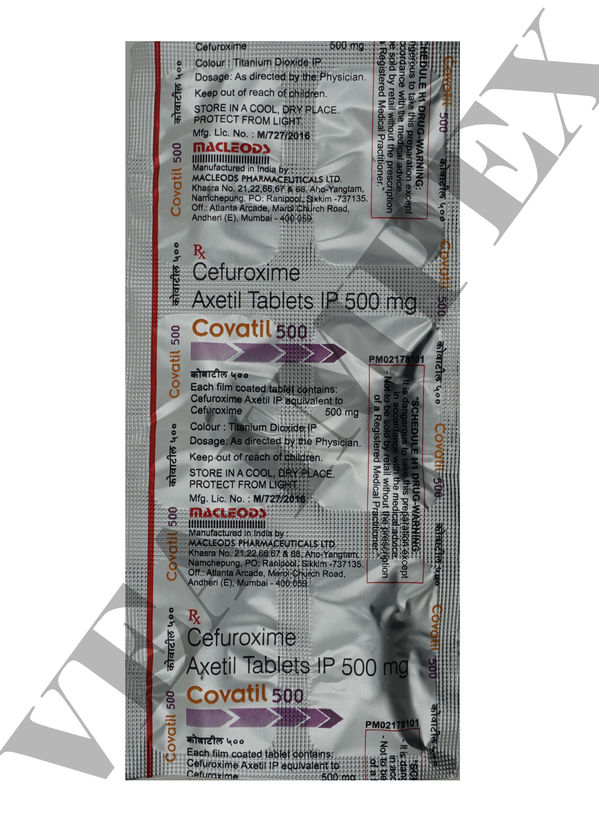 Covatil 500 MG Tablets