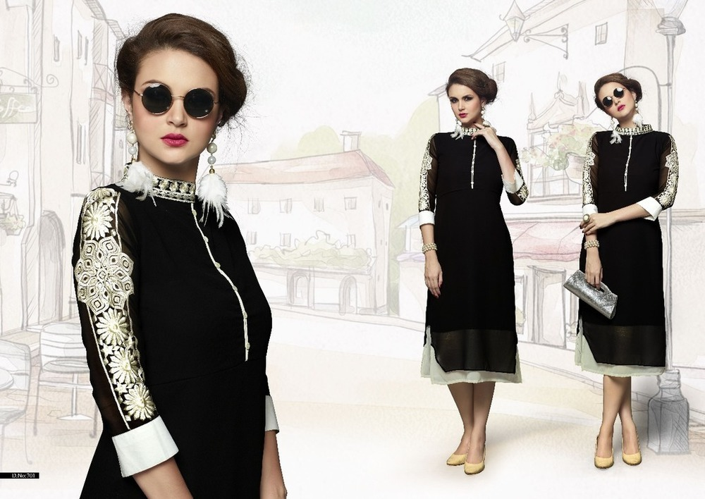 Latest Georgette Designer Kurtis