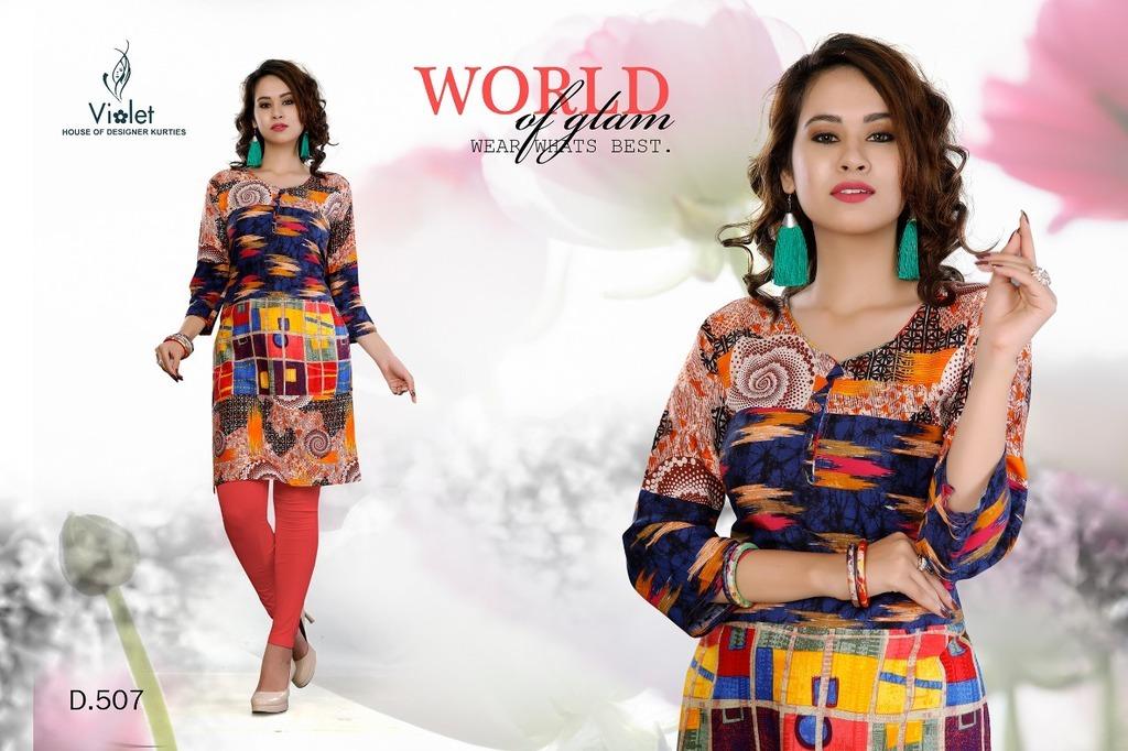 Ladies Fashion Rayon Kurtis