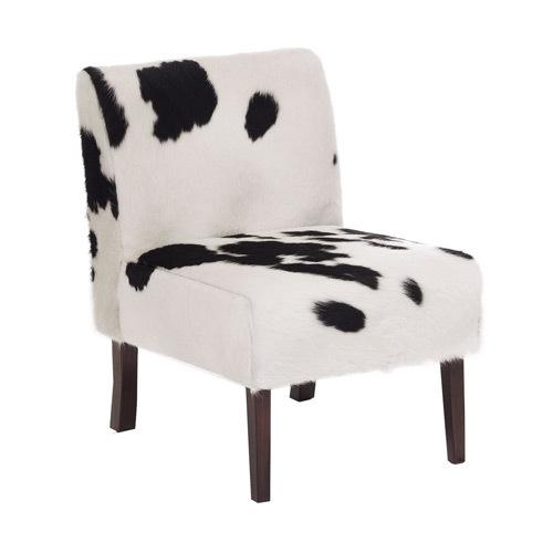Hair on Leather Sofa Chair