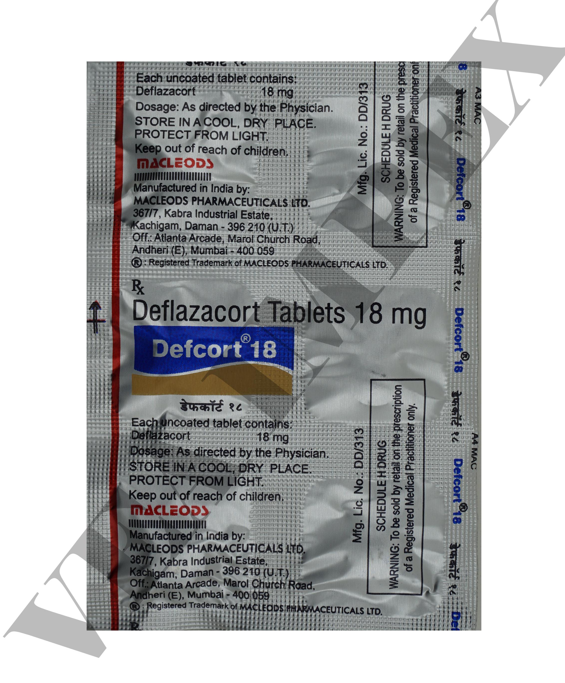 Defcort 18 mg Tablets