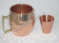 Hammered Mule Mug with Glass