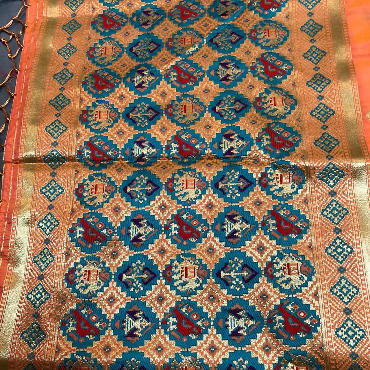 Peach Heavy Soft Silk With Beautiful Zari Work Saree(DNHSILK1)