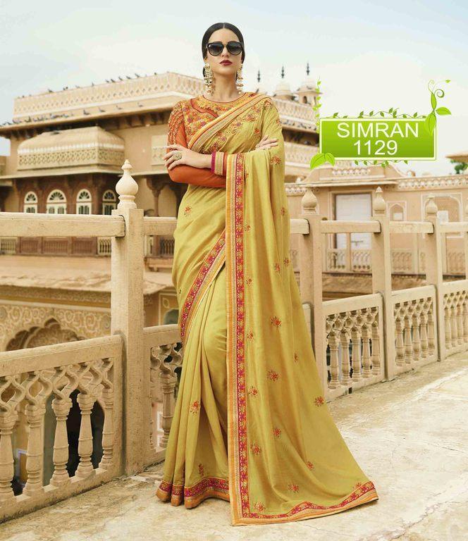 Fancy Designer Georgette Silk Sarees Online
