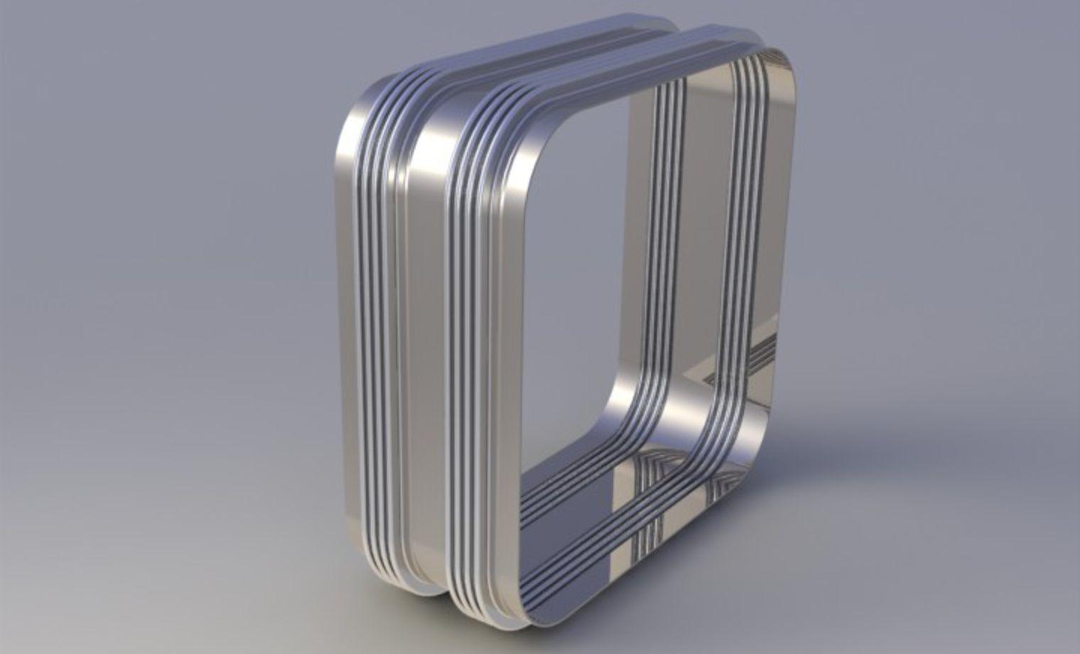 Rectangular metal expansion joints