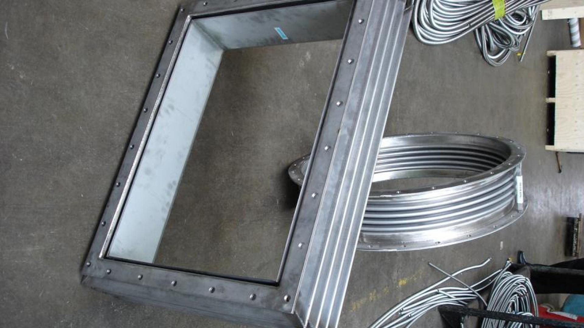 Rectangular metal expansion joints