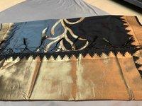 Heavy Golden Zari Work With Rich Pallu Saree (DNHSILK2)