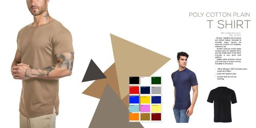 Poly Cotton Plain T Shirts