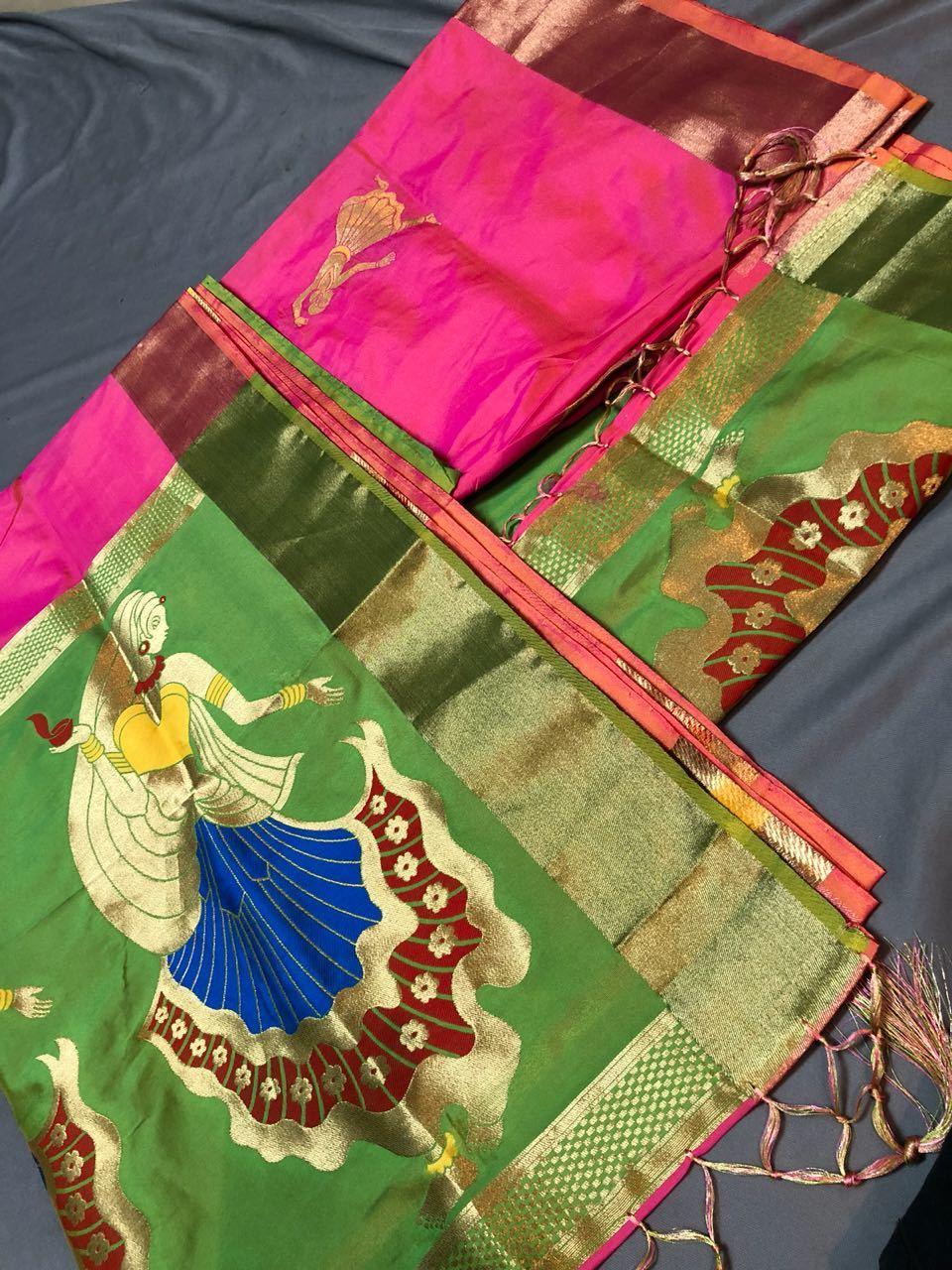 Designer Heavy look Saree Soft Silk with Zari Work (DNHSILK3)