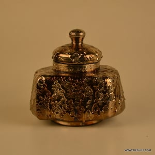 GLASS JAR & CANISTERS,JAM JAR,SILVER JAR WITH CAP