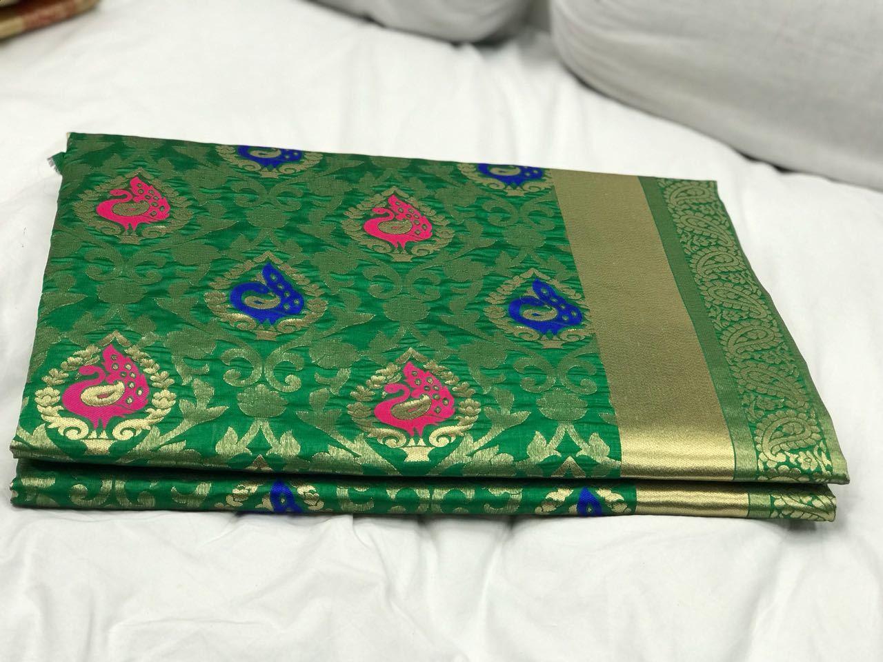 Kanchipuram silk Heavy Zari Work saree (DNHSILK4)
