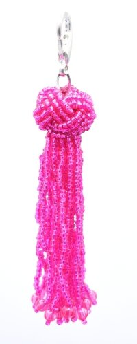 Trendy Pink Beaded Tassel