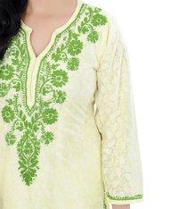 Cotton Brasso Lucknow Chikan Kurti
