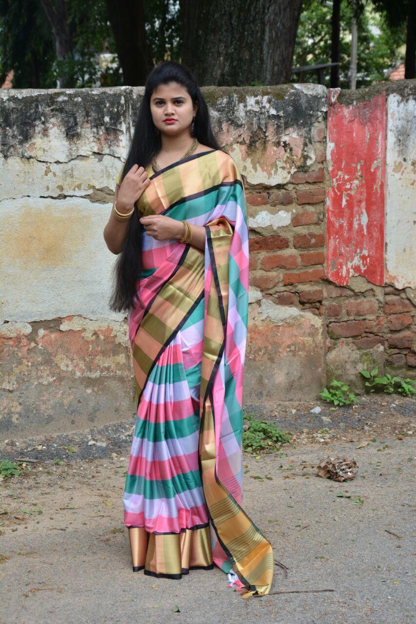 Multichex Soft Silk Saree (DNHSILK5)