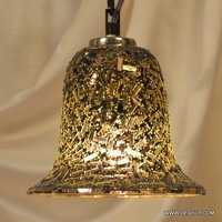 GLASS GOLDEN COLOR MOSAIC HANGING WITH FITTING