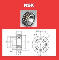 NSK BALL SCREW SUPPORT BEARING 55 BNR 10
