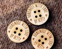 Engraved Wooden Buttons