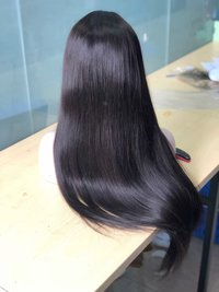 Long Silky Human Hair Wig