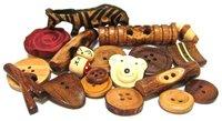 stylish wooden button