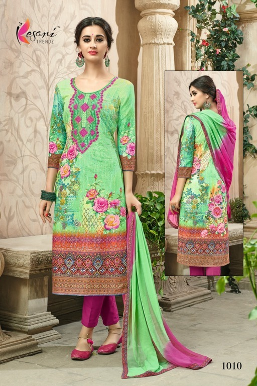 Hand Painted Cotton Salwar suits