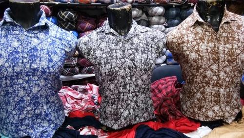 mens satin printed shirts