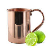 Plain 16OZ Copper Straight Mug