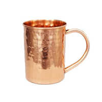 Copper Straight Hammered Mug