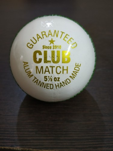 APG Club Match White Leather Cricket Ball