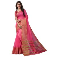 Poly cotton saree