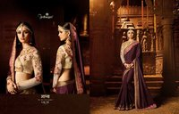 Fancy Embroidery Work Designer Sarees