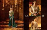 Fancy Embroidery Work Designer Sarees