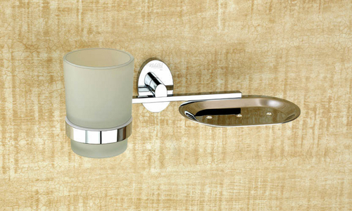 Brass Soap Dish with Tumbler Holder