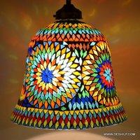 The Brighter side Dahlia mosaic pendant