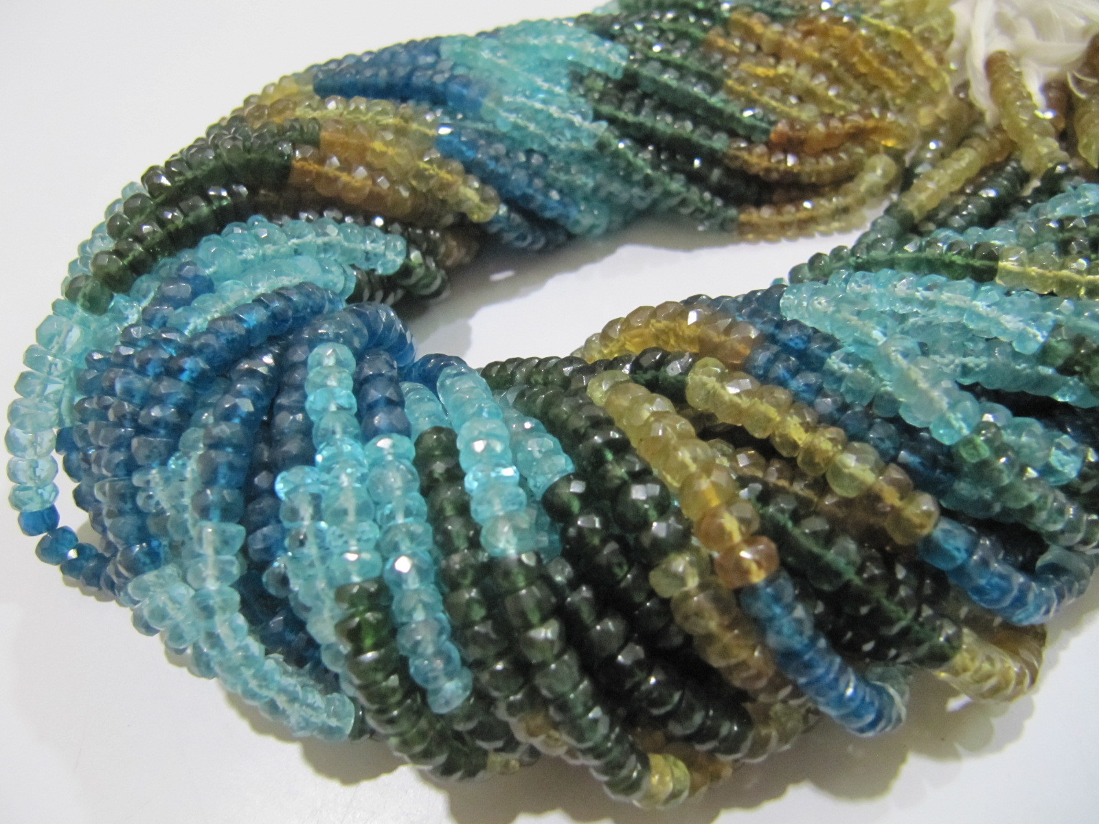 AAA Quality Natural Untreated Multi Apatite beads