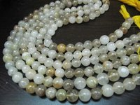 Natural Golden Rutilated Round Plain Smooth Quartz Beads