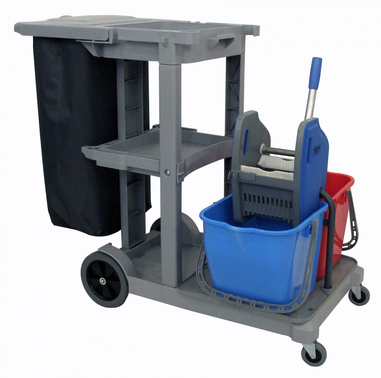 Double bucket Janitor Cart