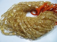 AAA Quality Natural Citrine Plain Square Shape Chiclets beads