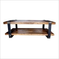 Iron Wooden Coffee Table