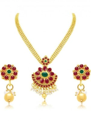 Gold Plated Alloy Necklace