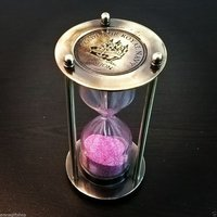 Antique Brass Sand Timer Collectible Decor 4 Inch