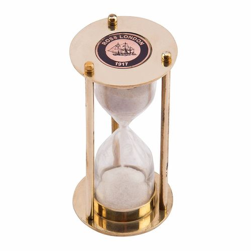 Brass Antique Sand Timer 1 Minute Full Hourglass,