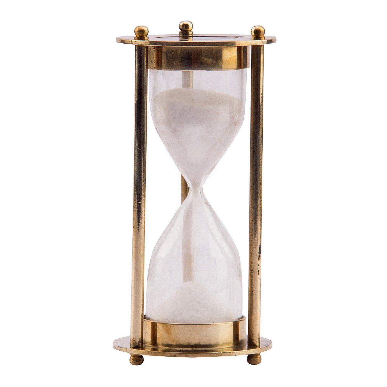 brass antique sand timer 1 minute full hourglass brass antique