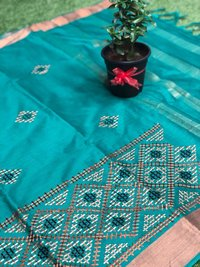 Banarasi Soft Silk With Beautiful Resham Embroidery Work and Design..(DNHSilk10)