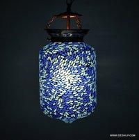 BLUE MOSAIC GLASS WALL HANGING, DECOR GLASS MOSAIC HANGING